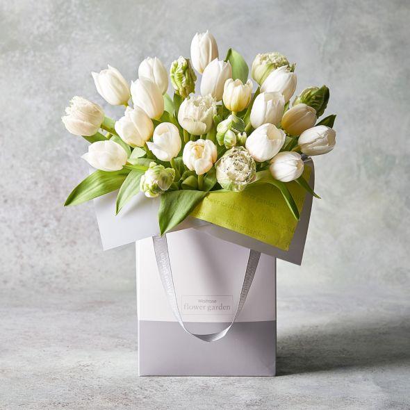 Dusky pink gift bag easter waitrose florist negle Gallery
