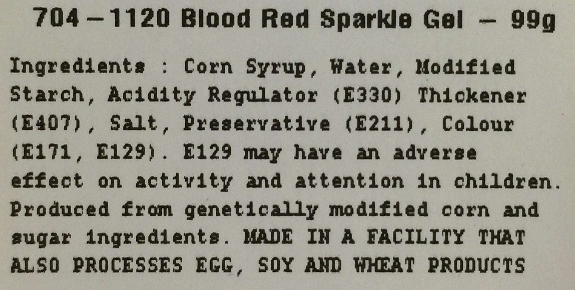Ingredient information