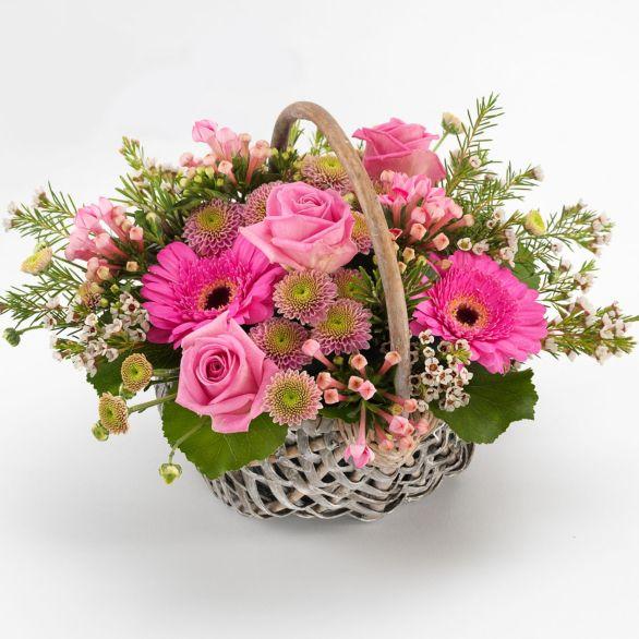 Same Day Secret Garden Basket Pastel.
