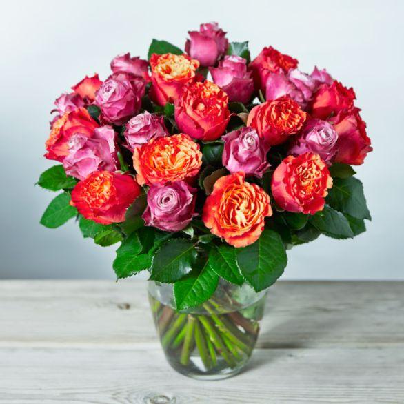 Foundation Double Dozen Roses Bouquet Pink.