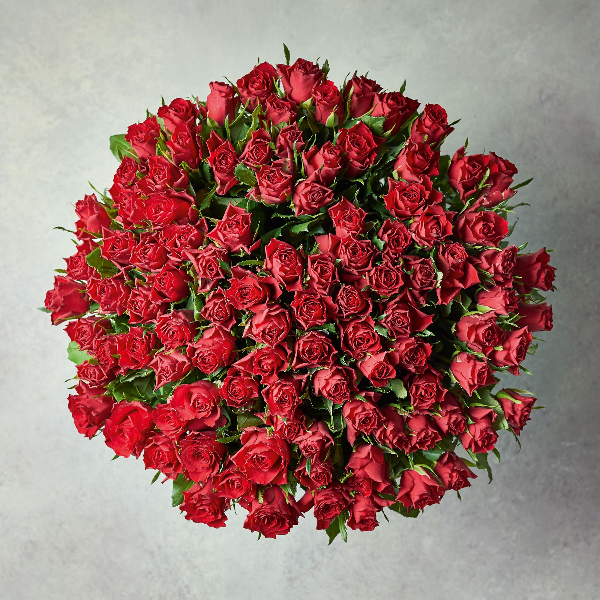 Image of 100 Sweetheart Roses - ready to arrange Red
