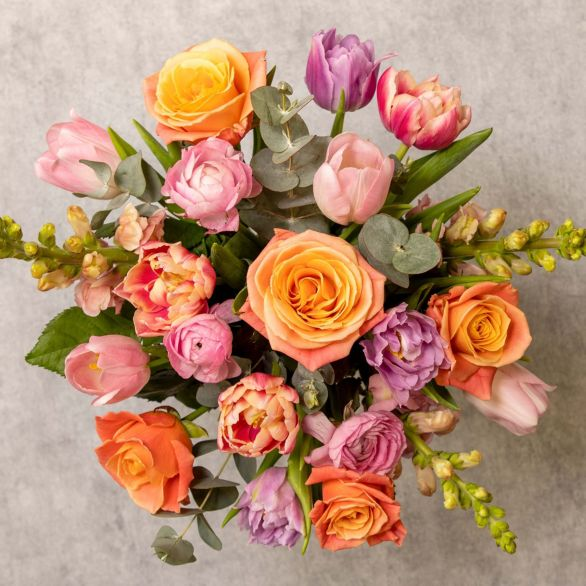 Mother's Day Peach Melba Bouquet Orange.