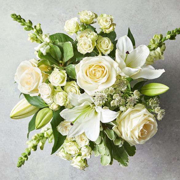 Scented White Lily & Rose Bouquet White