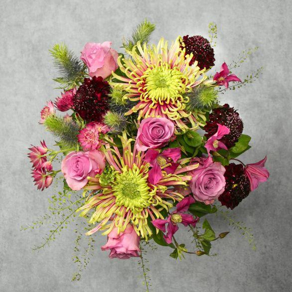 Cottage Garden Medley Bouquet Purple, lilac or blue