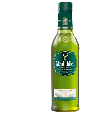 Glenfiddich 12-Year-Old Speyside Single Malt Whisky 35cl