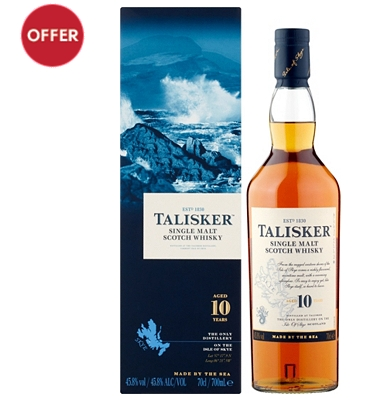 Talisker 10-Year-Old Isle of Skye Single Malt Whisky