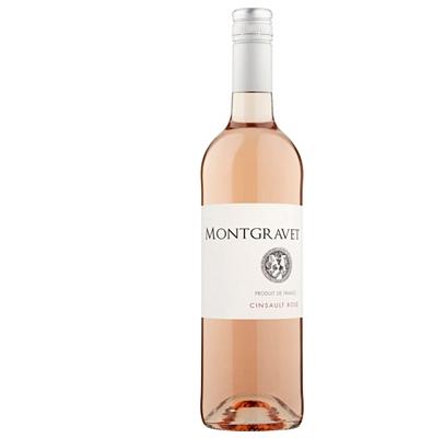 Montgravet Cinsault Rosé 2017 Pays d'Oc,France