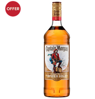 Captain Morgan Spiced Rum 1 Litre