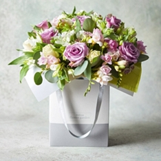 Large Rose & Scented Freesia Gift Bag