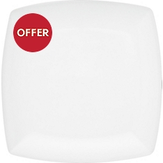 Waitrose Chef's White square dinner plate