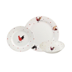 Churchill China Rooster 12 piece dinner set