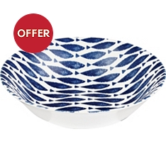 Churchill China Sieni fishie on a dishie 24.5cm salad bowl