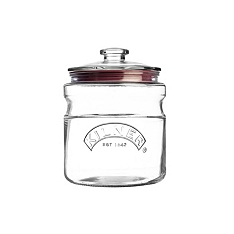 Kilner push top storage jar, 2 litre
