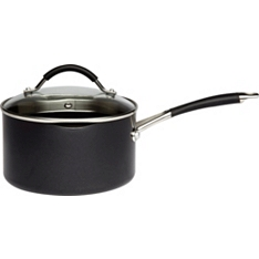 Waitrose Cooking 18cm aluminium saucepan with lid