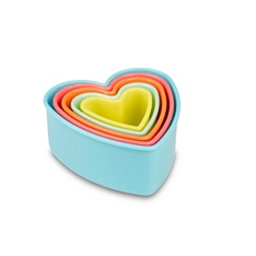 Tala heart coloured cookie cutters , set of 5