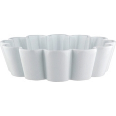 Waitrose Chef's White fluted pie dish