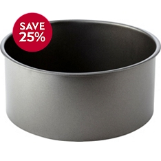 Waitrose Cooking 20cm loose base deep round cake tin