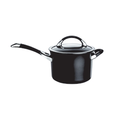 Circulon Symmetry 20cm black saucepan with helper handle