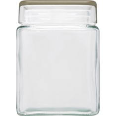 Waitrose small square storage jar