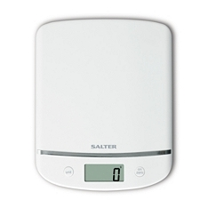 Salter white electronic scale