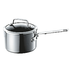 Anolon Authority tri-ply clad saucepan with lid, 18cm
