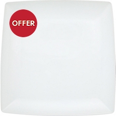 Waitrose Chef's White square serving platter