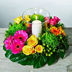 Vibrant Candle Centrepiece
