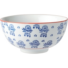 Waitrose blue floral serve bowl