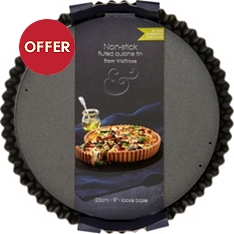 from Waitrose 23cm non-stick fluted quiche tin