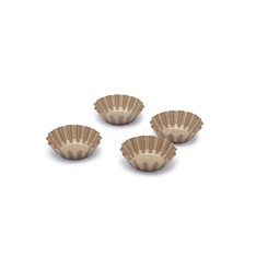 Paul Hollywood Set of 4 Non-Stick Mini Fluted Tart Tins