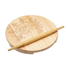 World of Flavours Indian chapati board & roller