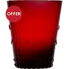 Waitrose red pressed wine glass