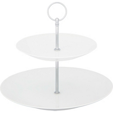 Waitrose Chef's White two tier cake stand