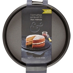 from Waitrose 18cm sandwich tin