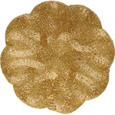 Waitrose Dining gold beaded placemat