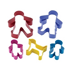 Let's Make gingerbread family cookie cutter set