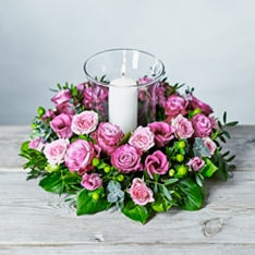 Luxury Flower Garden Candle Centrepiece