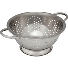 essential Waitrose steel colander, 24cm