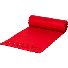Waitrose Dining red felt runner