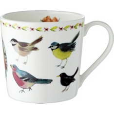 Waitrose Dorset birds mug