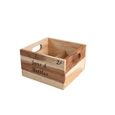 Baroque bottle rustic 'jars & bottles' crate
