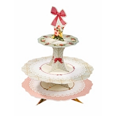 Talking Tables Frills & Frosting cake stand with cake pop holes