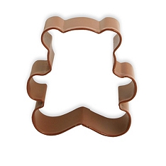 Brown teddy bear cookie cutter