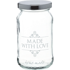 Home Made love glass preserving jar