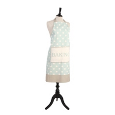 Cream & Country mint spot apron