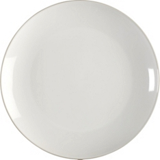Waitrose essential stoneware side plate white