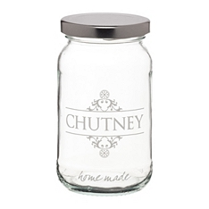 Home Made chutney glass preserving jar