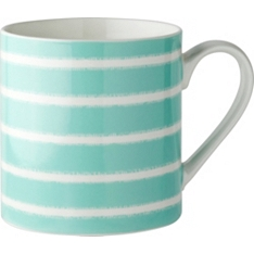 Waitrose stripe can mug