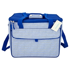 Waitrose blue striped family coolbag