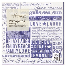 Waitrose Home Nordic Words Napkins 20